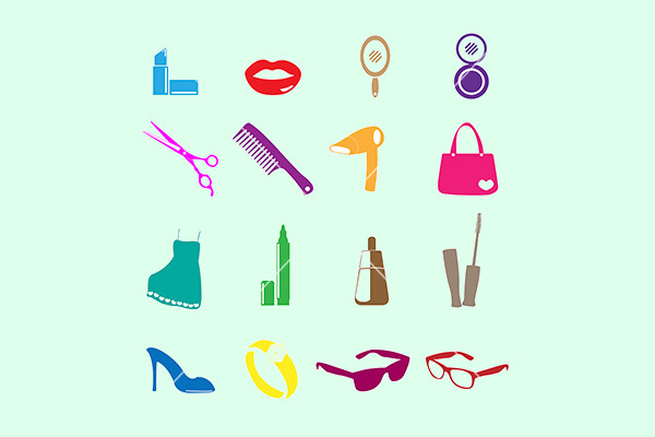 Cosmetic Make up And Beauty Icons
