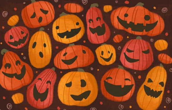 Cute Pumpkin Halloween Pattern