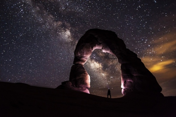 Dark Sky with Stars Nature Photography