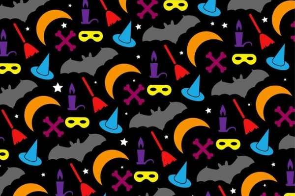 Decorative Halloween Colorful Pattern