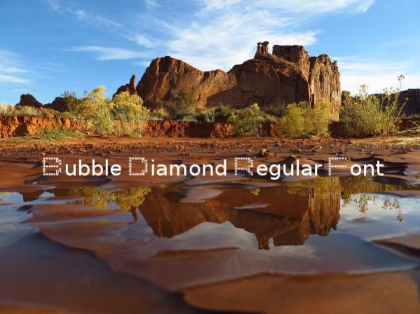 double-bubble-diamond-regular-font
