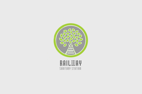 Eco Railway Train Logo