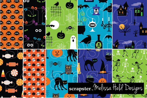 Editable Halloween Pattern Design