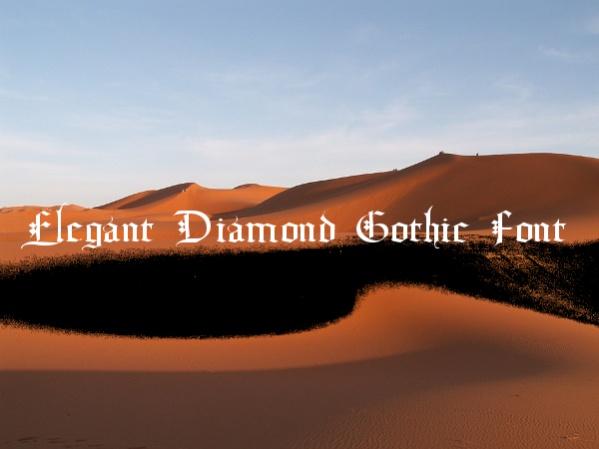 Elegant Diamond Gothic Font