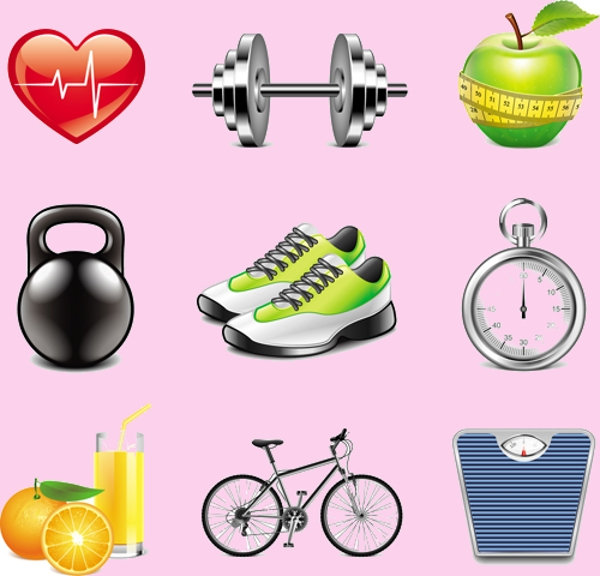 Elegant Fitness Icons Download
