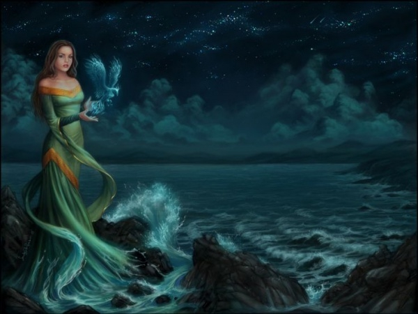 Fantasy Girl Ocean Wallpaper