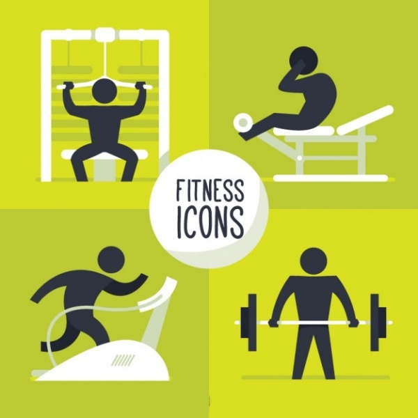 Fitness Gym Icons Pack