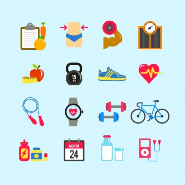 Fitness Icons Free Vector