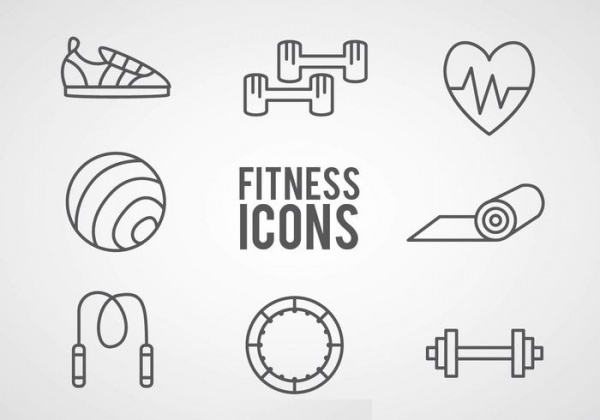 Fitness Outline Icons
