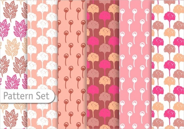 Floral Decorative Pattern Set