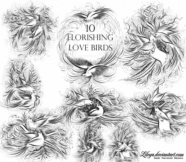 Flourishing Love Birds