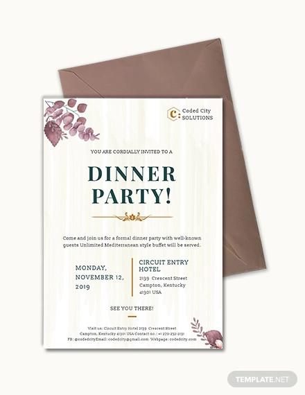 formal dinner invitation
