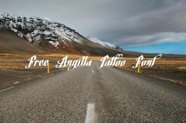 Free Angilla Tattoo Font