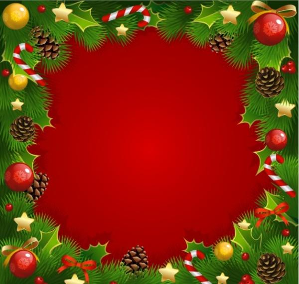 free christmas frame vector
