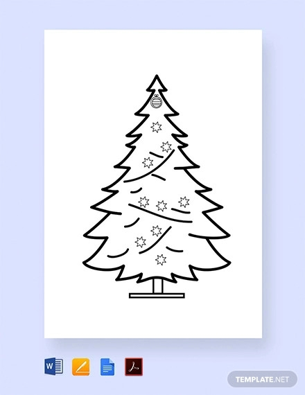 20+ Christmas Coloring Pages - Vector EPS, PDF Download