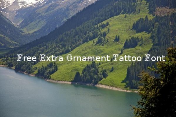 Free Extra Ornament Tattoo Font