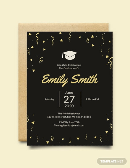 free graduation invitation template