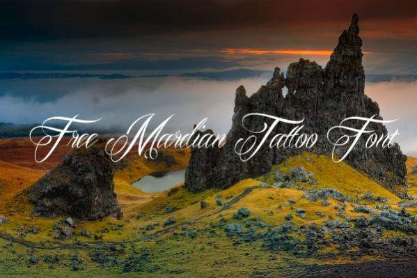 Free Mardian Tattoo Font