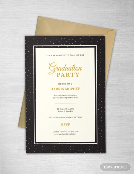 free sample graduation invitation template