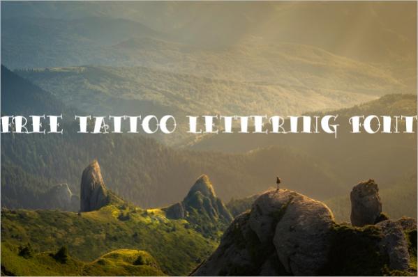 Free Tattoo Lettering Font