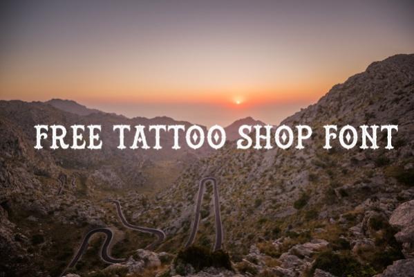 Free Tattoo Shop Font