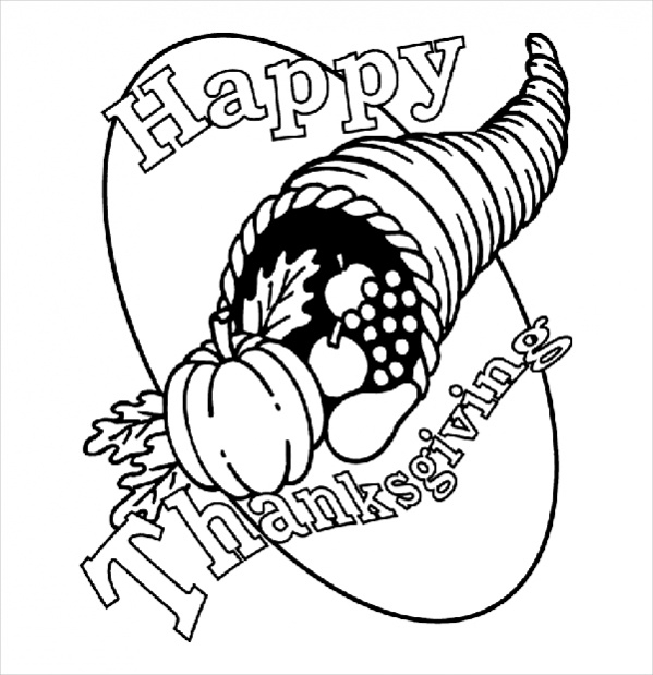 Free Thanksgiving Printable Coloring Page