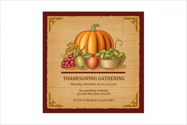 Free Thanksgiving Printable Invitation
