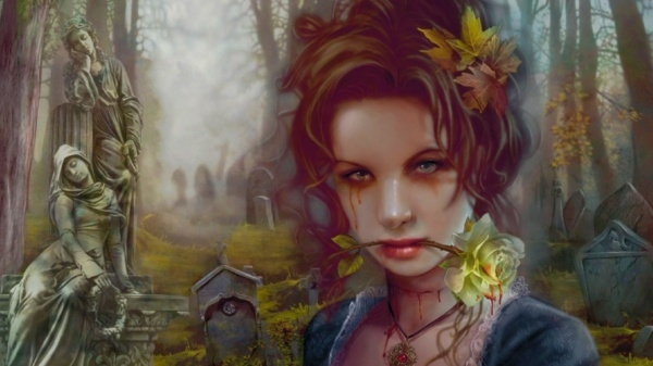 Gothic Beauty Desktop Wallpaper