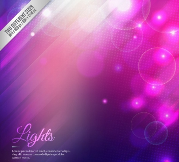 Gradient Lights Background In Purple