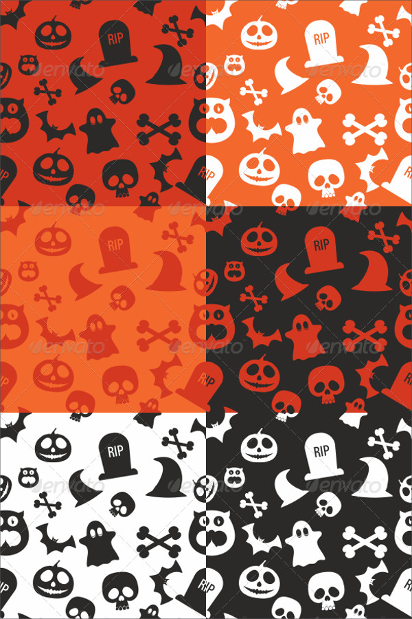 Halloween Cartoon Illustration Patterns