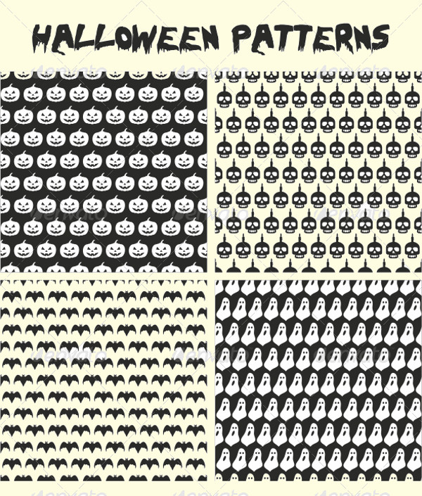 Halloween Scary Seamless Pattern