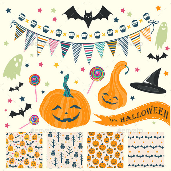 halloween seamless pattern for celebrations