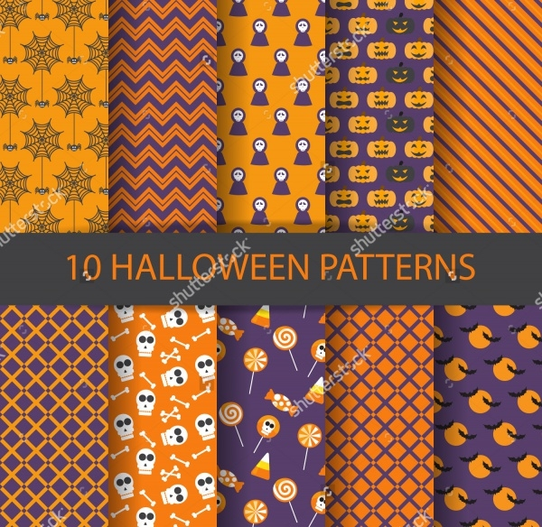 Halloween Vector Background Pattern