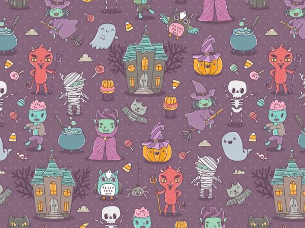 Happy Halloween Cartoon Characters