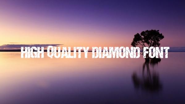 high-quality-diamond-font