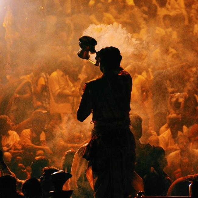 Hindu Prayer Smoke Photography