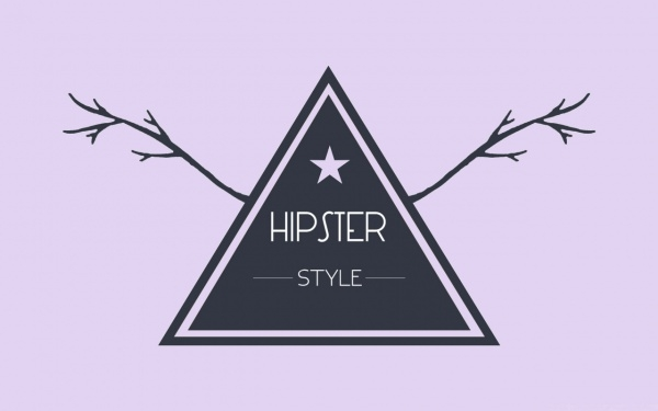 Hipster Style Badge Wallpaper