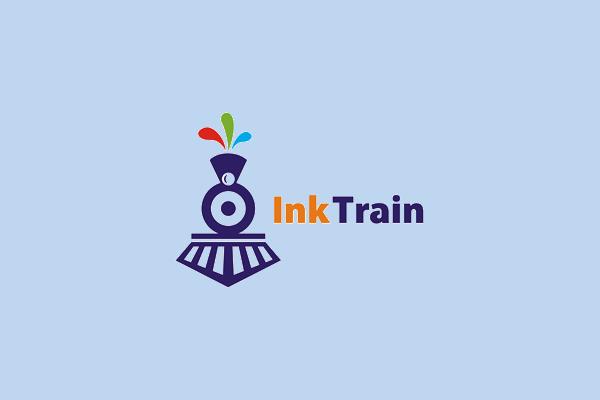 Ink Train Locomotive Logo