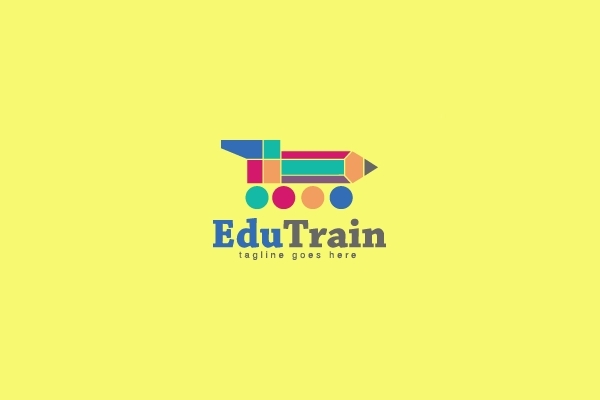 Kids Education Pencil Logo