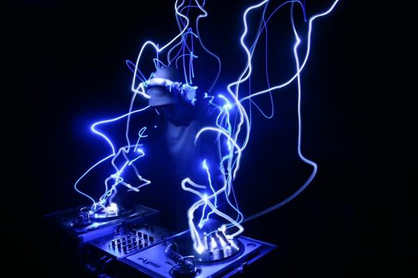 Light Emitting DJ Wallpaper
