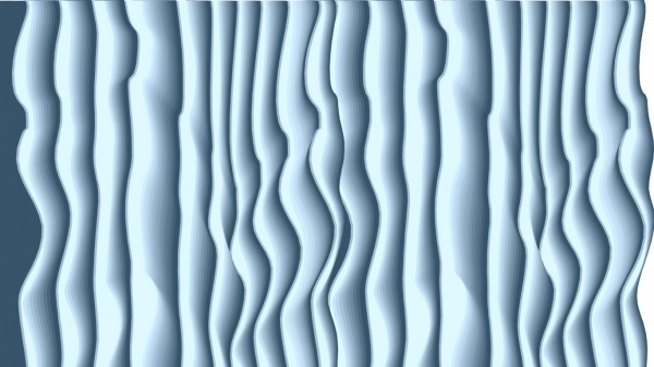 Marvellous Wavy Blue Wallpaper