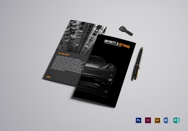 modern car brochure template