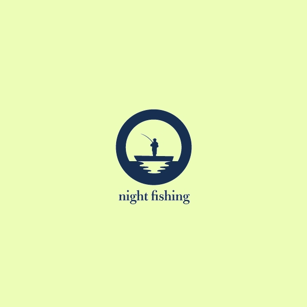 Night Fishing Moon Logo