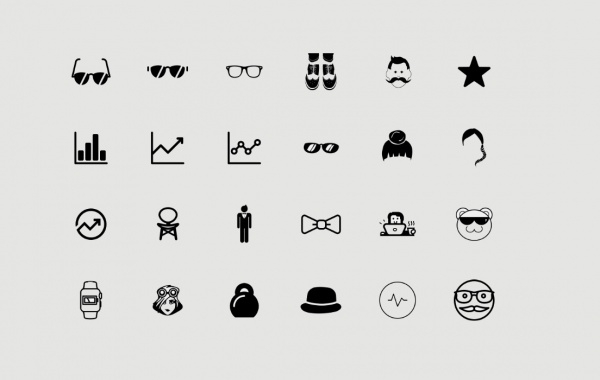 Outlined Thin Trendy Icons