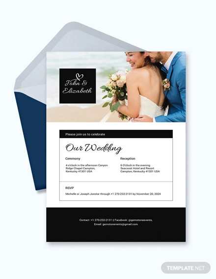 photo wedding invitation email