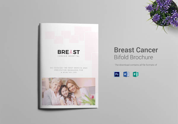 Printable Cancer Hospital Bi Fold Brochure