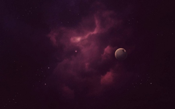 Purple Sky death Star Wallpaper