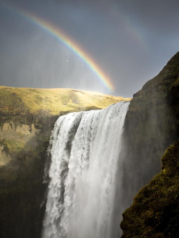 Rainbow and Waterfall Photography