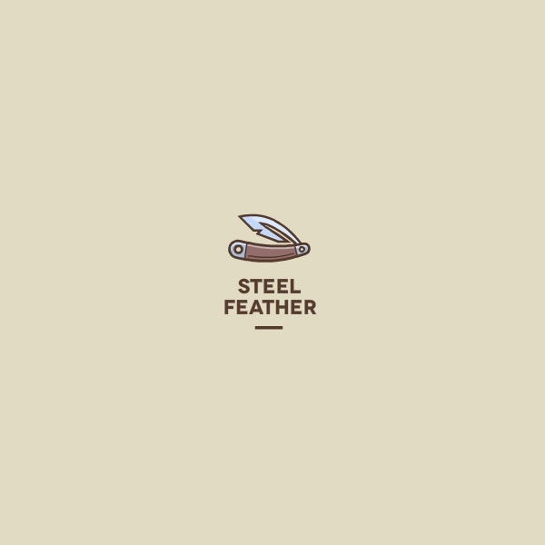 Razor Steel Feather Logo