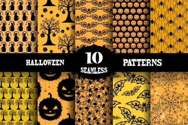 seamless patterns for halloween